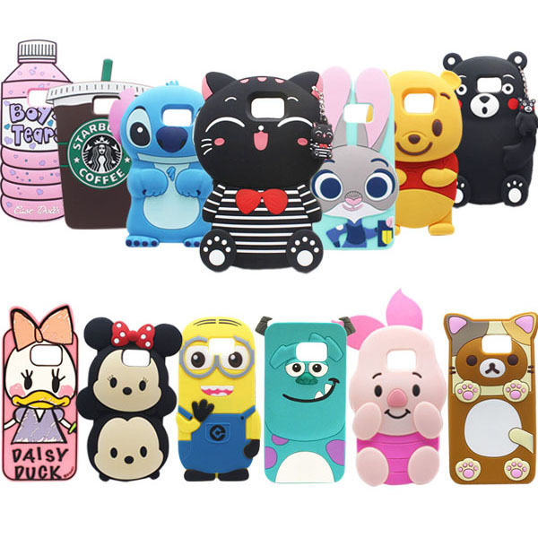 28 Types For Samsung Galaxy Note 5 Case Lovely Cute 3D Cartoon Soft Silicon Cover For Samsung Galaxy Note5 N9200 Phone Cases