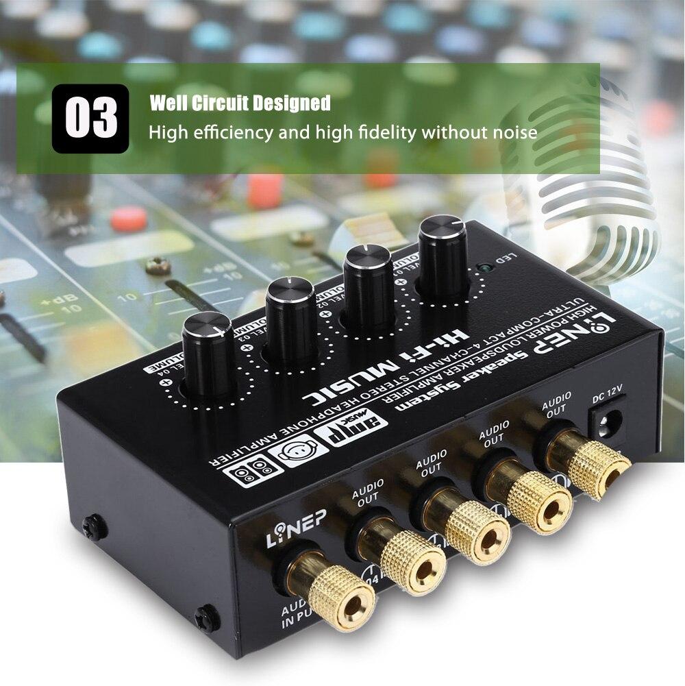 EU/US 1 in 4 Audio Signal Switcher Verstärker Preamp HIFI für ...