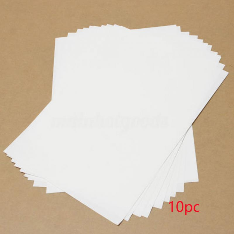 10Pcs A4 Heat Transfer Paper For Inkjet Printers Light Color Paper Fabric T-Shirt Transfers Photo Prints #5