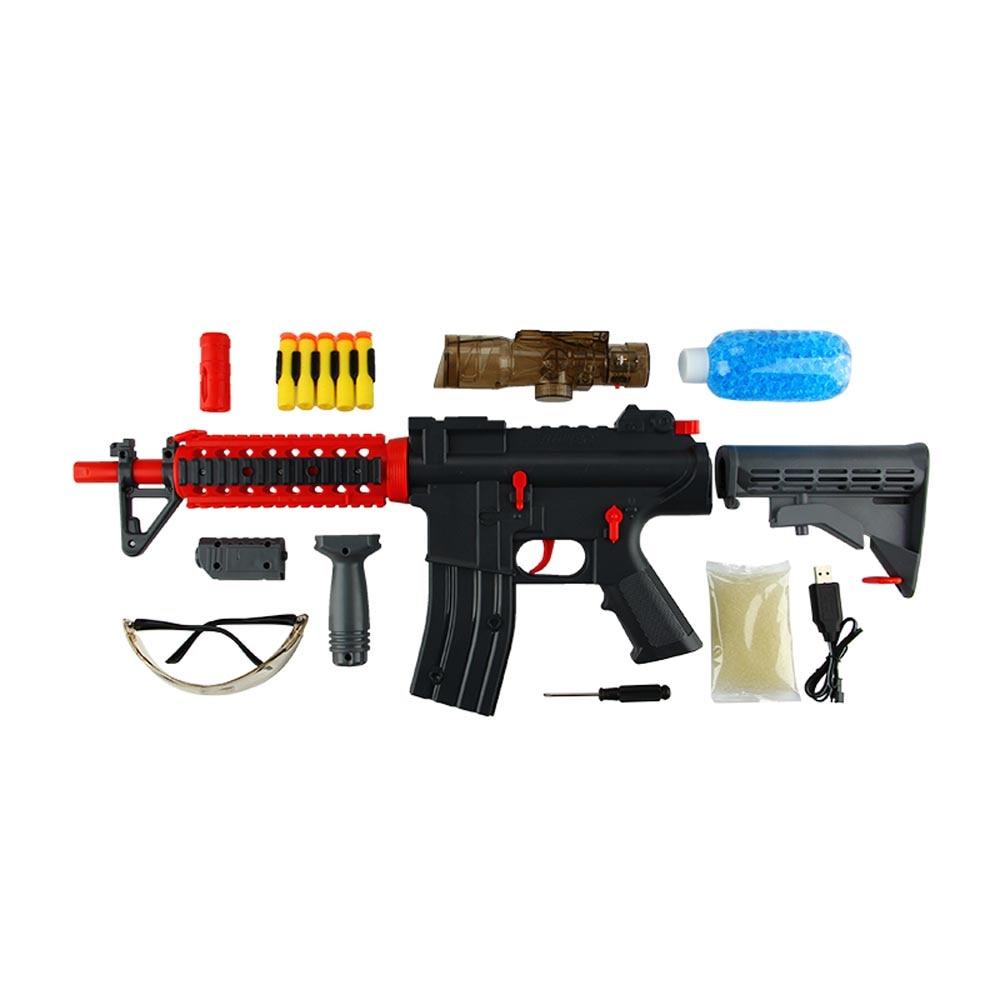 Jouet de pistolet à eau à balle molle électrique Enjoybay pistolet à eau en plein air pour enfants garçons/filles jouet de pistolet à balle en cristal d'eau Rechargeable - 3