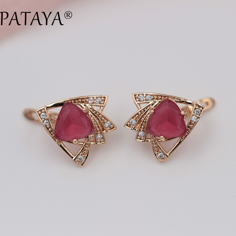 New High Guality 585 Rose Gold Earrings Original Heart Love ...
