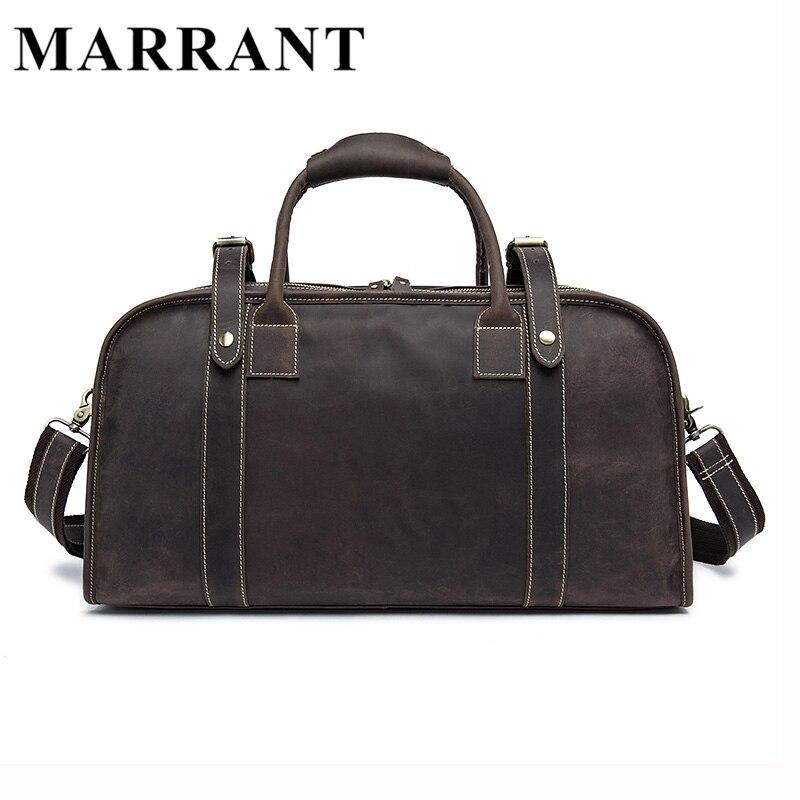 MARRANT Genuine leather Man Bag Leather Men's Large Travel Bags Vintage Language Handbag Male Crossbody Shoulder Bag 1098