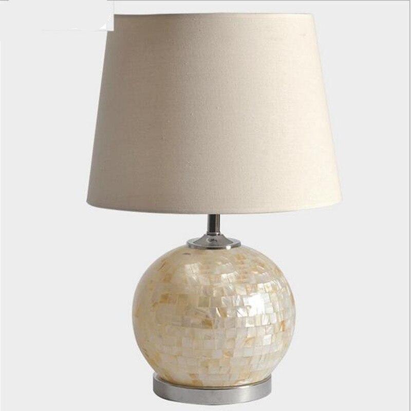 Modern Handmade Tiffany White Glass Fabric Led E27 Table Lamp For Wedding Decor Bedroom Livingroom AC 80-265V 2142
