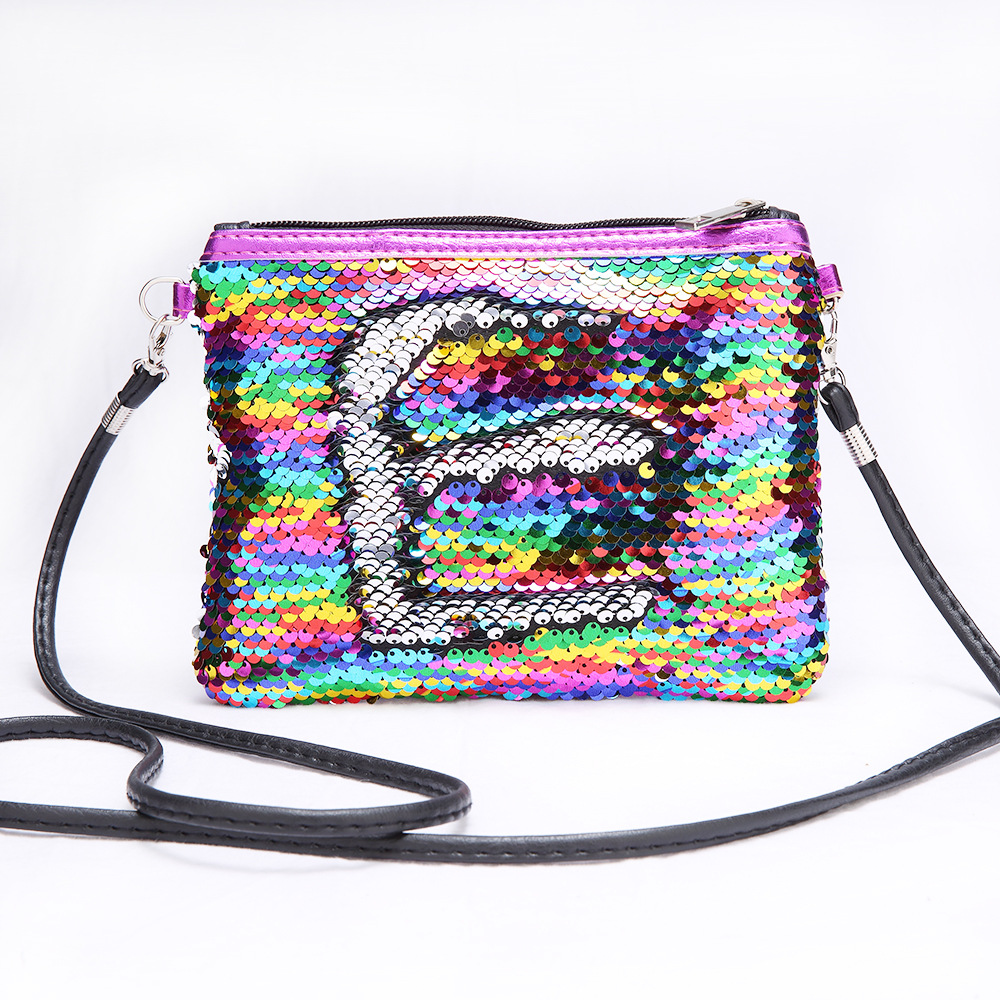 Children Mini Clutch Bag Sequins Color Change Coin Purse Handbags Kids Girls Crossbody Shoulder Bags Baby Messenger Bag Gift цены