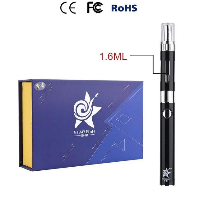 Star Fish 650mAh Battery Dry Herb Vaporizer Mini Vaporizer Pen Herbal Electronic Cigarette Mini Atomizer Kits Black kit