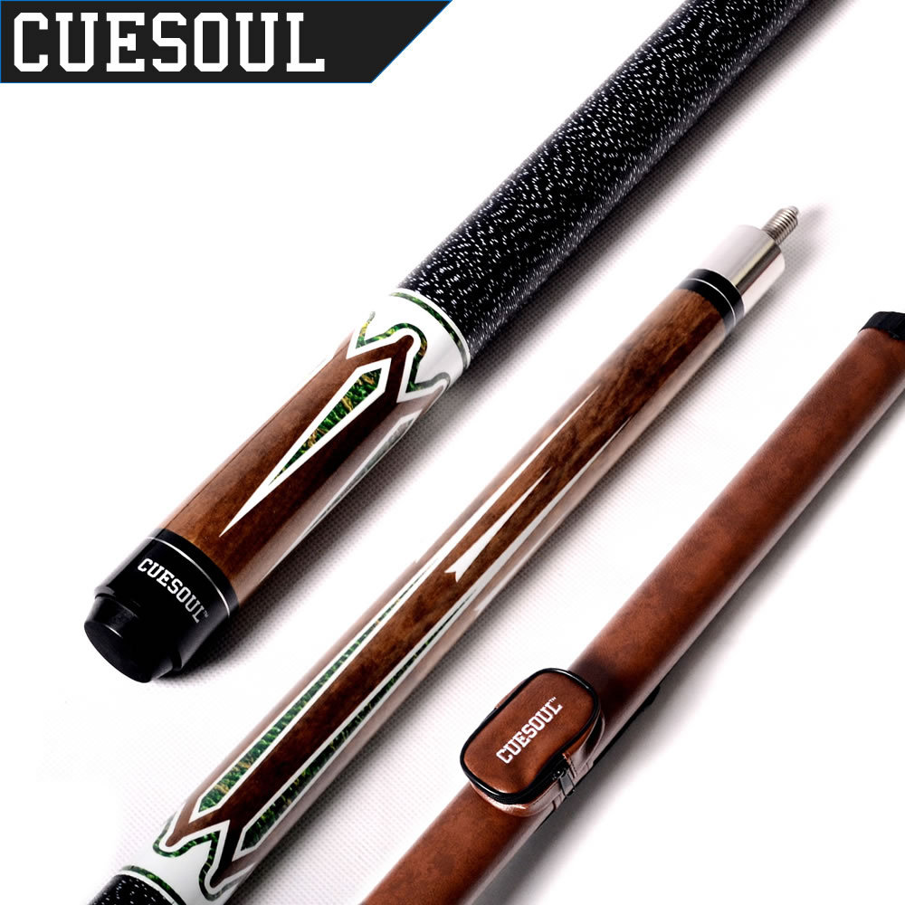 CUESOUL E101+CASE 1/2 Jointed Maple Pool Cue Stick With 1 Butt and 1 Shaft Billiard Cue Tube Case
