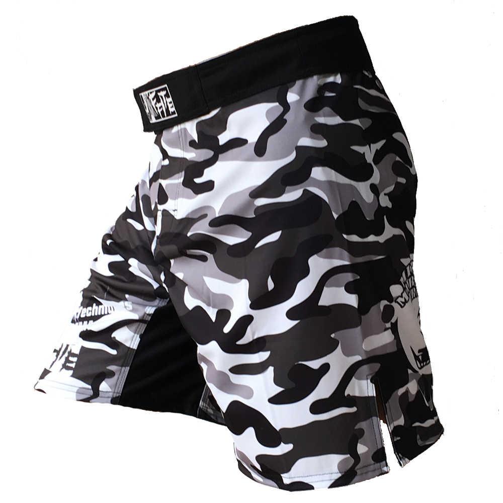 MMA Celana Pendek Kick Tinju Muay Thai Celana Pendek Trunks MMA dengan Harga Murah Pria Kebugaran Celana Pendek Sanda Boxe Melawan Memakai Bergulat MMA Celana olahraga