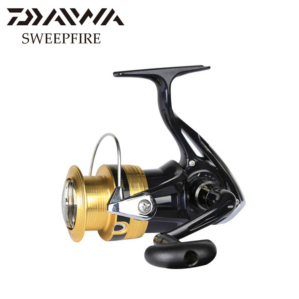 Daiwa SWEEPFIRE fishing reel 1500-4000 size with Metail line cup spinning reel 2KG-6KG Power for beginner fishing reels