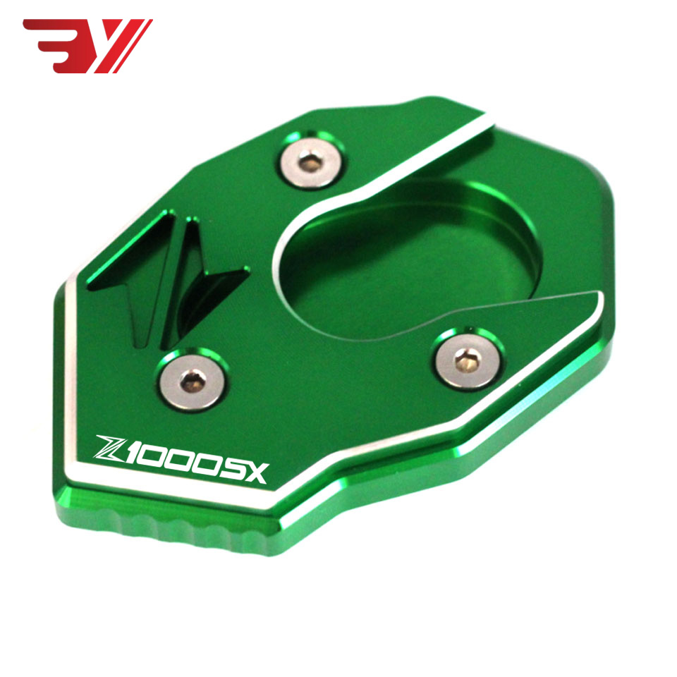 <font><b>2018</b></font> NEW Motorcycle Accessories Side Stand Enlarger Plate Extension For <font><b>Kawasaki</b></font> Z1000 SX Z 1000SX 2011-2017 with <font><b>Z1000SX</b></font> Logo image