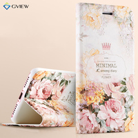7 Plus 3D Relief Painting Luxury Flip Leather Case For IPhone 7 7 Plus With Stand