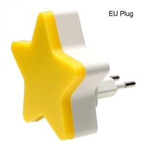 Image 4 - Led Nachtlampje Sensor Controle Energiebesparing Mini Lamp Woonkamer Slaapkamer Verlichting Us/Eu Plug Ночник Kinderen nachtlampje