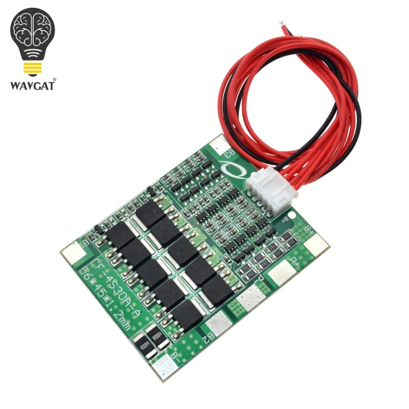 WAVGAT 4S 30A 14.8V Li-ion Lithium 18650 Battery BMS Packs PCB Protection Board Balance Integrated Circuits image