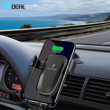 DCAE Car Qi Wireless Charger 10W Fast Charging Stand for iPhone 8 X XS Max XR Samsung S9 S8 Plus Car Mount Air Vent Phone Holder(China)