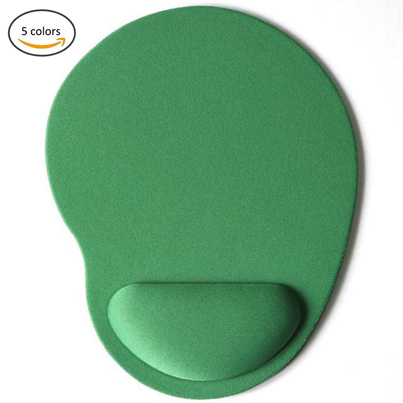 Mouse Pads 3D With Wrist Rest Support Mouse Pad Silicone Gel Hand PU Anti-slip Hand Pillow Memory Cotton Gaming Mouse Pad Mat 001 memory cotton mouse pad green black