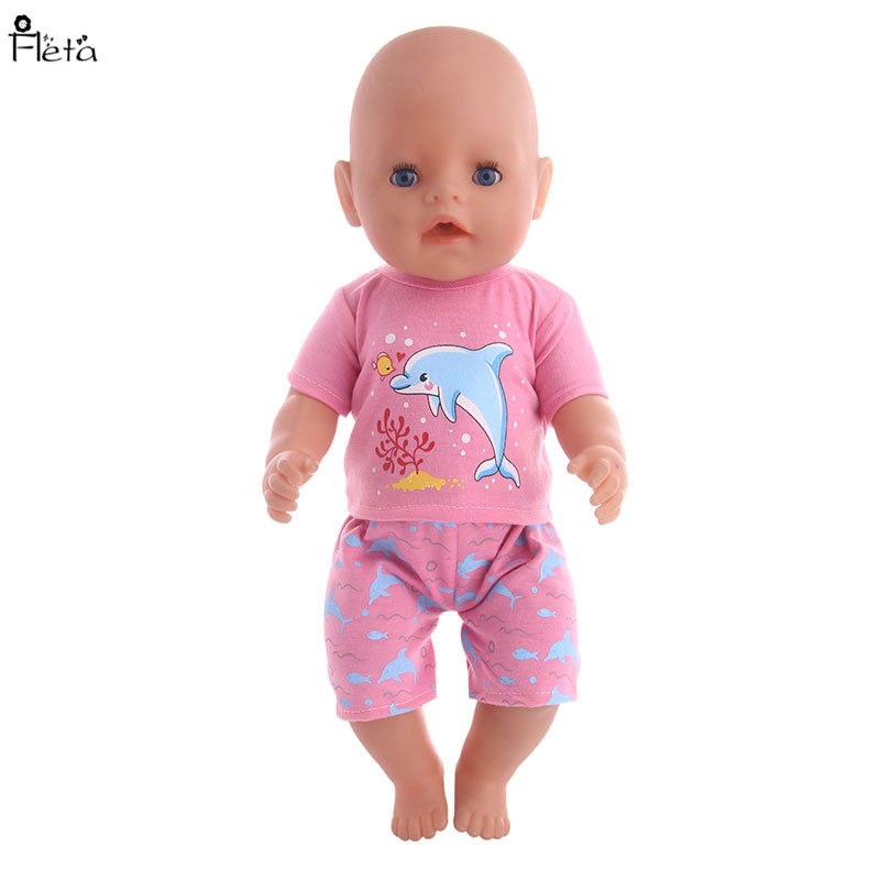 Fleta 4 different style suit Doll Clothes for 43cm Reborn Baby zapf born baby Doll or 18inch American Girl Doll&toy Accessories [mmmaww] christmas costume clothes for 18 45cm american girl doll santa sets with hat for alexander doll baby girl gift toy