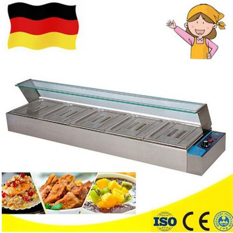 1.8KW commercial use kitchen  Insulated Electric Food Warmer equipment bain marie table top keep warmer machine free ship new premium fast food equipment commercial package double grilled hamburger machine price
