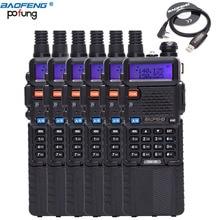 6 PCS Baofeng DM-5R Dual Band VHF / UHF 136-174 / 400-480MHz DMR Digital Radio Walkie Talkie 3800mAh Two-Way Radio Transceiver
