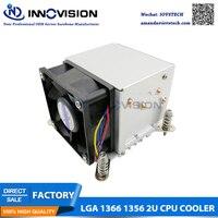 LGA1366 1356 CPU Cooler heatsink with four heating pipe for 2U/3u/4u server