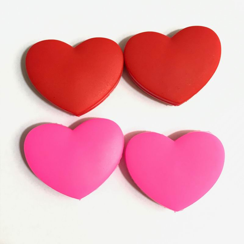 2pc Red/pink Heart Tennis Vibration Dampeners
