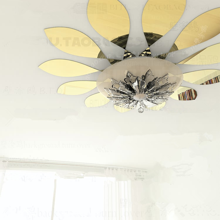 3D haut de plafond lampe goutte d\'eau acrylique miroir mural ...