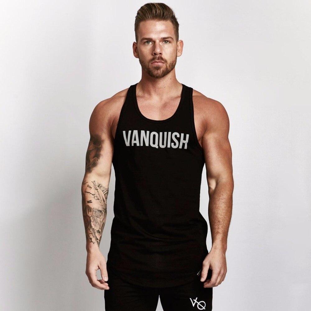 DERMSPE Body building VQ Brand Tank Top Men Stringer Tank Top Fitness Singlet Sleeveless shirt Workout Man Undershirt Clothing