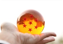 7 pcs/box Dragon ball Z anime figure star crystal ball Big Size: 7cm Dragon balls Goku resin boy toys Free shipping by DHL