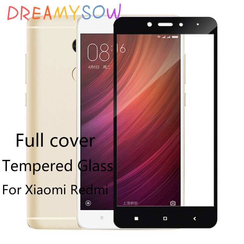 Full Cover Tempered Glass For Xiaomi Redmi 4X Prime Pro 4A 4 Standard Note 4X MTK X20 32GB 64GB Global Version 4X Snapdragon625