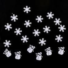 15g  White Color Christmas Snowman Snowflake 18*19mm Tinfoil Sequins Gift DIY Home Decoration