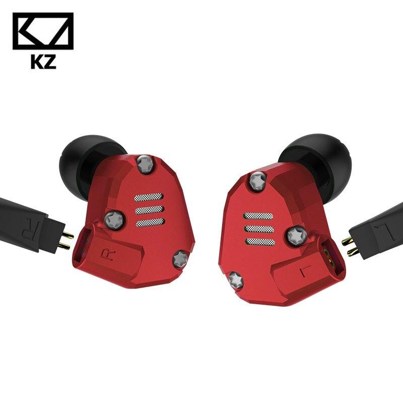 KZ ZS6 2DD 2BA 8 controladores auriculares híbridos en oreja HIFI auriculares deportivos estéreo HIFI DJ Monito auriculares deportivos auricular auriculares