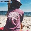 Оптовая цена Новый Плюс Размер Длинным Рукавом Слон Печати Футболки Женщины Повседневная Топы Свободные Футболку Camisetas Mujer Femme