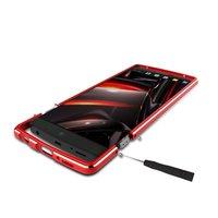 Screw Aluminum Metal Chrome Alloy Mobile Phone Bumper Case Cover With Strap For LG V10 V20