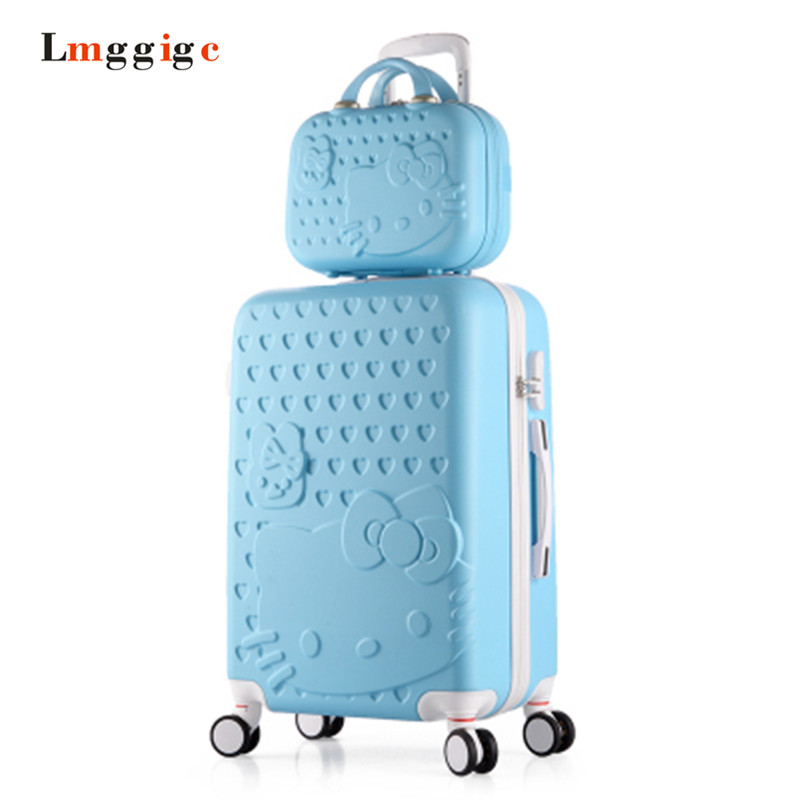 Hello Kitty Suitcase Set,Kids Rolling Luggage Luggage,Children Women's  ABS Travel Bag,Universal wheel Trolley box,Carry On girls hello kitty trolley suitcase 3d cartoon trolley luggage bag women hard shell luggage 24 rolling luggage