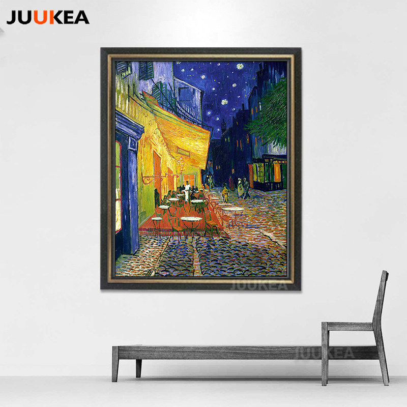 8e8473e01e4 Online Shop Cafe Terrace At Night by Vincent Van Gogh Wall Canvas ...