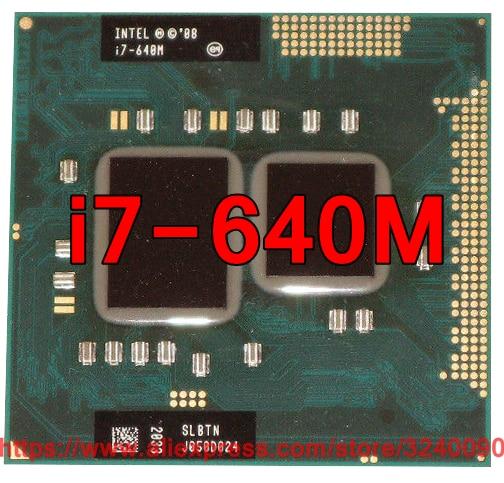 Original lntel Core i7 640M 2 8GHz i7 640M Dual Core Processor PGA988 SLBTN Mobile CPU