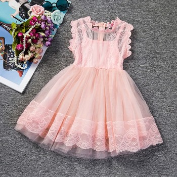 92bf38474 Bebé niña Floral encaje princesa tutú vestido de boda Vestido de bautizo  vestido niñas ropa para niños ropa de fiesta Meninas Vestidos 2 6Y