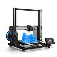 Новый модернизированный Anet A8 Высокоточный DIY A8 плюс 3D-принтеры самостоятельной сборки 300*300*350 мм Алюминий сплав рама со съемными ЖК-дисплей