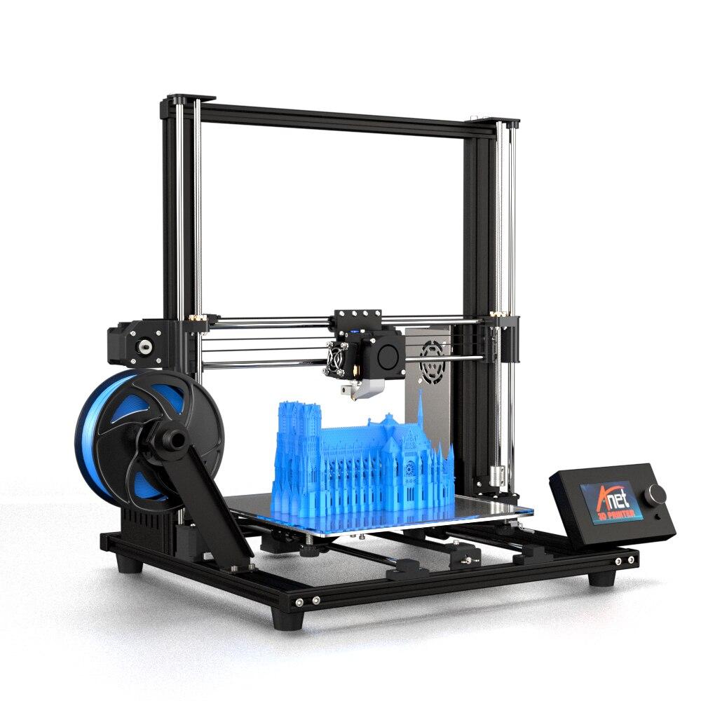 Nouvelle mise à niveau Anet A8 haute précision bricolage A8 Plus imprimante 3D auto-assemblage 300*300*350mm cadre en alliage d'aluminium mobile LCD
