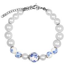 Best Friends Gift For Children Imitation Pearl Bracelet Women Geometric Flower Pattern Charms Bracelet For Women chic faux pearl decorated geometric bracelet for women