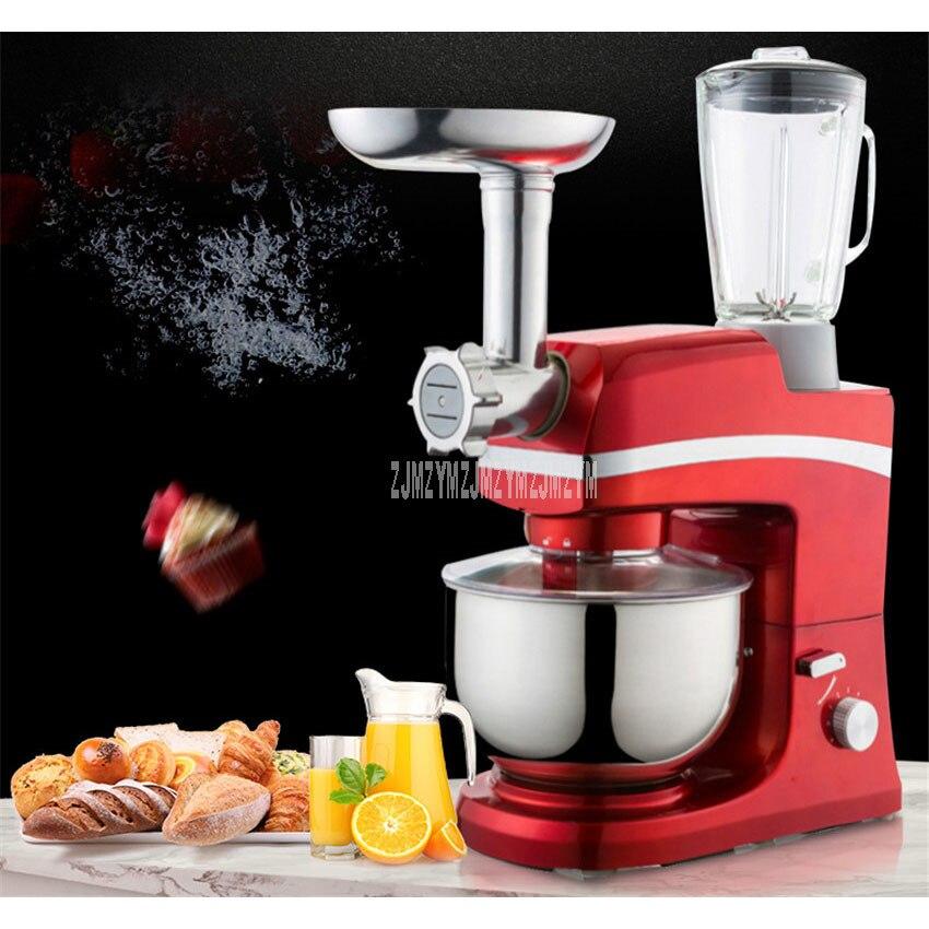 Multifunction Electric Dough Mixer Eggs Beater 5L Blender Juicer Grinder For Sausage Noodle Maker Kitchen Stand Mixer SM 1083