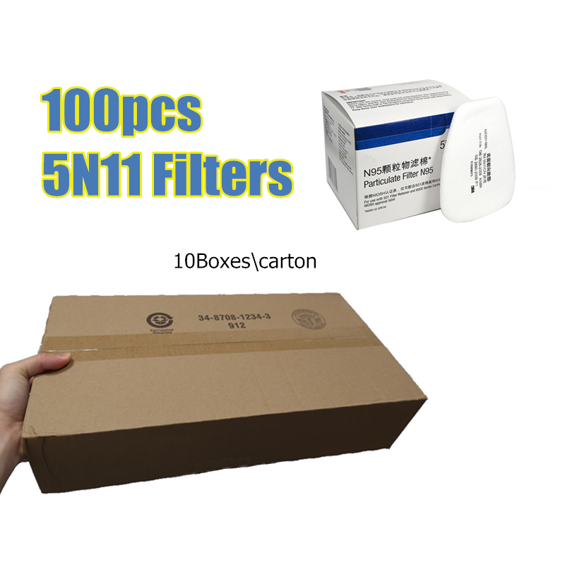 100Pcs 5N11 N95 Cotton Filters Gas Masks Replaceable For 6200 And 7502 Series Accessory Dust Mask Chemical Respirator Spraying