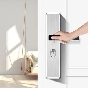 Image 3 - Fechadura eletrônica de impressão digital, fechadura de porta inteligente em aço inoxidável, impressão digital, semicondutor, fechadura eletrônica para porta