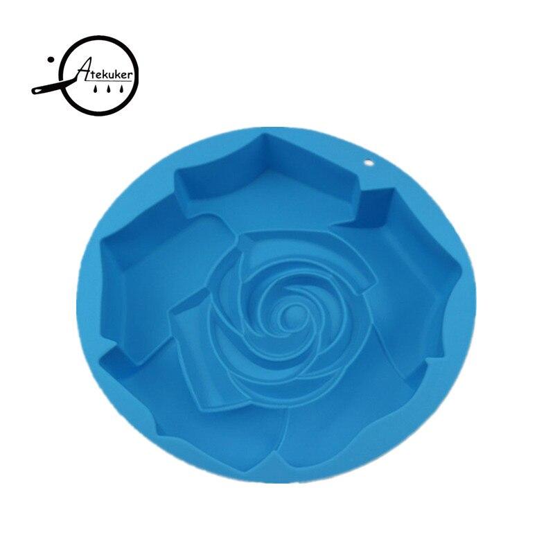 Atekuker Big Rose Blume Form Silikon Backform Zum Backen Gebäck - Küche, Essen und Bar - Foto 5