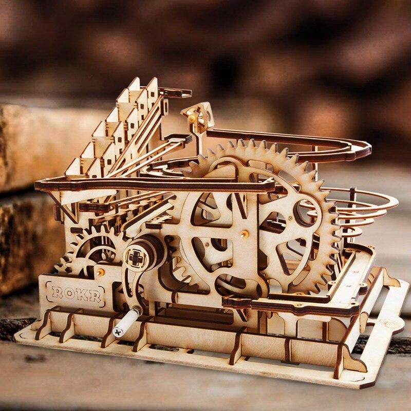Robud DIY мраморный Run игра деревянная головоломка Шестерня модель Конструкторы сборка игрушка подарок для мальчика и девочки LG501 для дропшиппи...