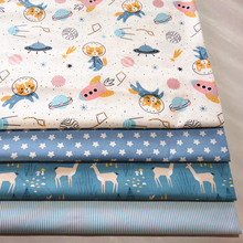 By Meter 100 Baby Cotton twill fabric Printed Cotton Cloth for DIY bedding cloth Sewing patchwork quilting fabrics