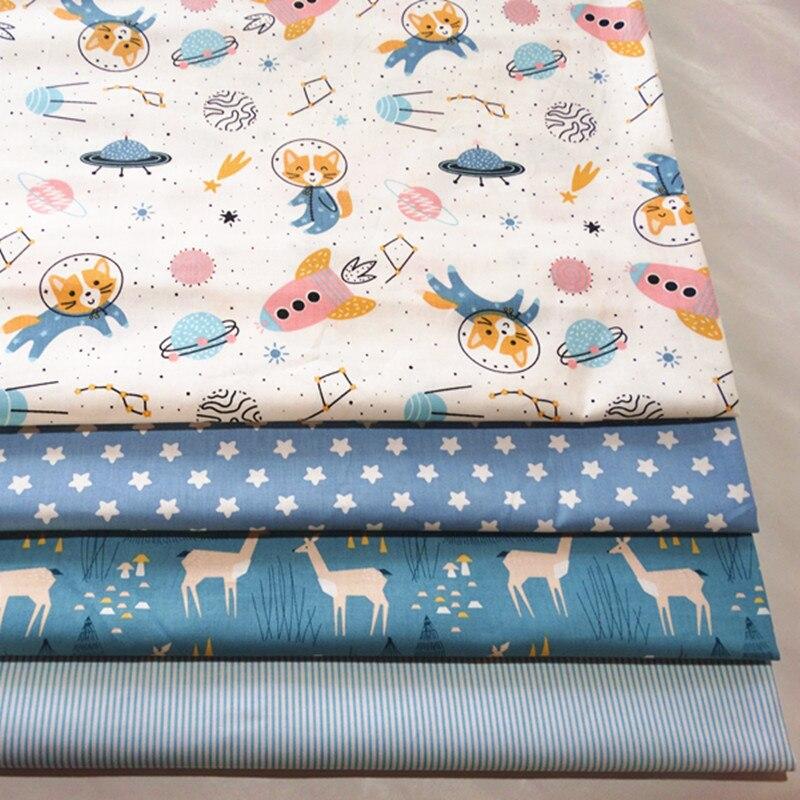 By Meter 100% детский хлопковый саржевый набивная хлопковая ткань для DIY скатерть в горошек Швейные лоскутные стеганые ткани
