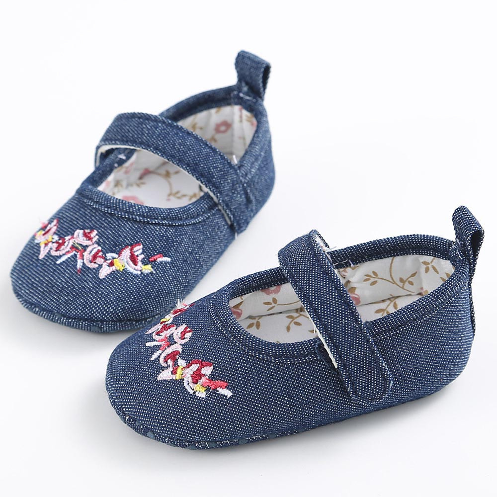 MUQGEW Toddler Shoes Sneaker Soft-Sole Anti-Slip Baby-Girl Fashion Bow-Knot Denim