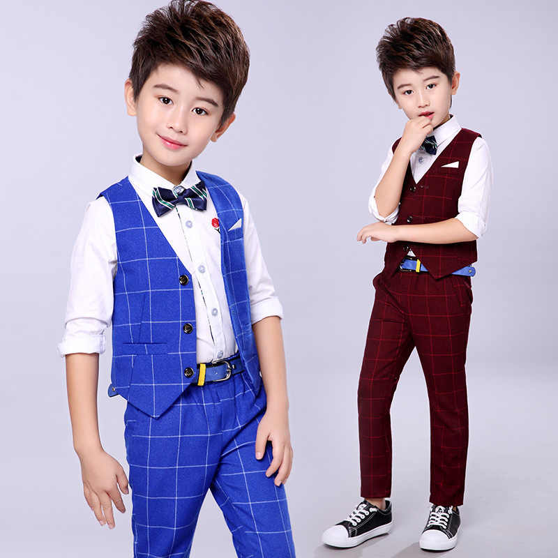 dd016399f ... Handsome Baby Boys Gentleman Suit Children's Formal Clothing Set Kids  Wedding Party Clothes 3-12Y ...