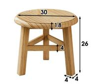 30*30*26CM Solid Wood Stool Shoes Stool Sofa Footstool