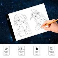 A4 Графика планшет светодиодный цифровой плавное Затемнение ЖК-чертежный стол колодки световой короб копию доска электронная картина доска...