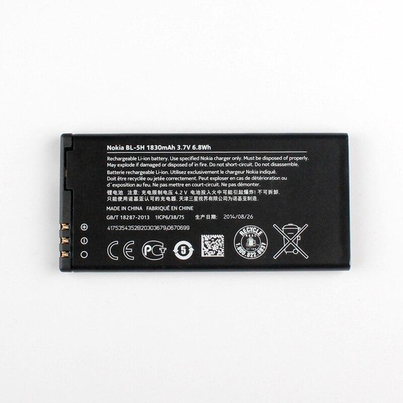 Original Nokia Lumia 630 phone battery for Nokia Lumia 635 Lumia 636 Lumia 630 RM-977 RM-978 RM-977 1830mAh BL-5H